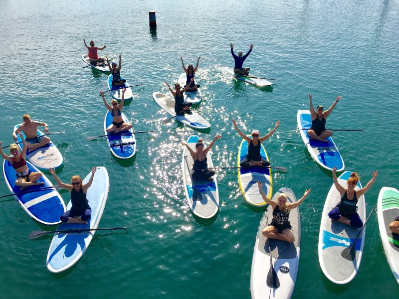 SUP Yoga In Dana Point Harbor